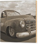 Rusty Studebaker In Sepia Wood Print