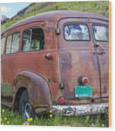 Rusty Suburban Wood Print