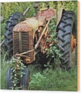 Rusty Tractor 3  Wood Print