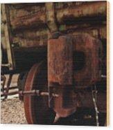 Rusty Train Back Wood Print