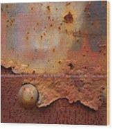 Rusty Train  Wood Print