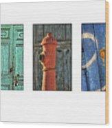Rusty Triptych Wood Print