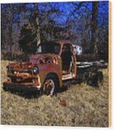 Rusty Truck Wood Print