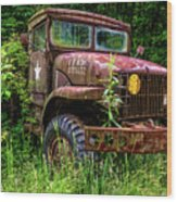 Rusty Warrior Wood Print