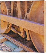 Rusty Wheels  Wood Print