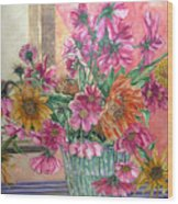 Ruth's Bouquet Wood Print
