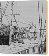 Rv Chain And Uscgss Whiting  Wood Print