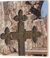 Rya Chapel Grave Marker Wood Print
