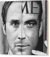 Ryan Gosling And George Clooney Wood Print