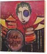 Ryan Macmillan And His Drums Wood Print