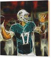 Ryan Tannehill - Miami Dolphin Quarterback Wood Print