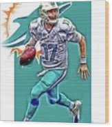 Ryan Tannehill Miami Dolphins Oil Art Wood Print