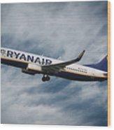 Ryanair Boeing 737 Wood Print