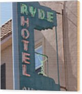 Ryde Hotel Sign Wood Print
