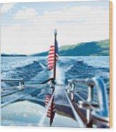 Ryp'd View Of Lake George, Ny Wood Print