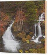 Ryuzu Falls Near Nikko In Japan In Autumn Wood Print