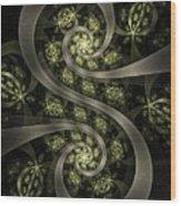 S Curve Wood Print