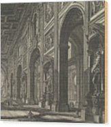 S. Giovanni In Laterano. Interior Wood Print