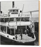 S. P. Ferry Alameda At San Francisco Circa 1940 Wood Print
