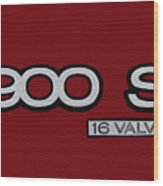 Saab 900 S Logo Wood Print