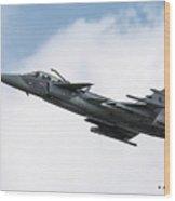 Saab Jas-39 Gripen Of The Czech Air Force Wood Print