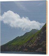 Saba Island Wood Print