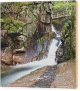 Sabbaday Falls Wood Print
