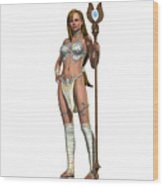 Sabby Lessa Woman Warrior Wood Print