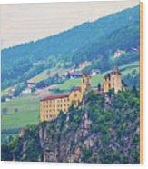 Saben Abbey On High Cliff Near Klausen View Wood Print