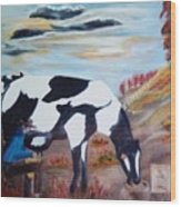 Sacandole  La Leche Ala Vaca Wood Print