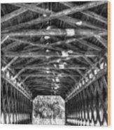 Sachs Bridge - Gettysburg - Bw-hdr Wood Print