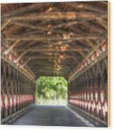 Sachs Bridge - Gettysburg - Vert.-hdr Wood Print