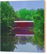 Sachs Covered Bridge - Gettysburg Pa Wood Print