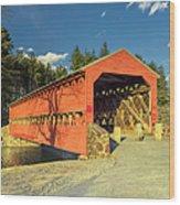 Sachs Covered Bridge Square Wood Print