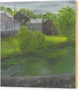Sacketts Dam Wood Print