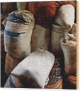 Sacks Of Feed Wood Print