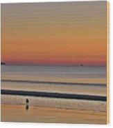 Saco Bay At Sunrise Wood Print