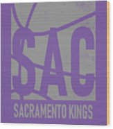 Sacramento Kings City Poster Art Wood Print