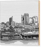 Sacramento Skyline N. Wood Print