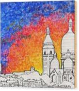 Sacre Coeur Wood Print