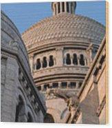 Sacre Coeur Architecture Paris Wood Print