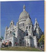 Sacre Coeur In The Montmartre Area Of Paris, France  Wood Print