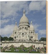 Sacre Coeur  Paris France Wood Print