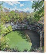Sacred Cenote In Chichen Itza Wood Print