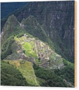 Sacred City Of Machu Picchu Wood Print