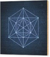 Sacred Geometry  Minimal Hipster Symbol Art Wood Print