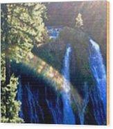 Sacred Geometry Rainbow Wood Print