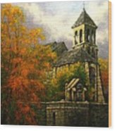 Sacred Heart Chapel Paris Wood Print