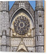 Sacred Heart Church Detail Roscommon Ireland Wood Print