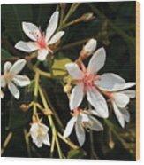 Sacred Heart Flowers Wood Print